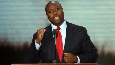 PHOTO: Rep. Tim Scott, R-SC, during the Republican National Convention at the Tampa Bay Times Forum on Aug. 28, 2012, in Tampa, Fla.