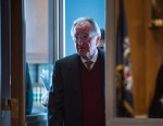 "PHOTO: Chairman Tom Harkin, D-Iowa, arrives for the Senate Health, Education, Labor and Pensions Committee hearing on ""Assessing the State of Americas Mental Health System"" in the Dirksen Senate Office Building on Thursday, Jan. 24, 2013."
