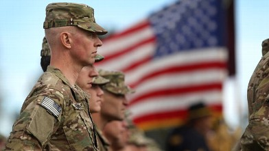 PHOTO: Soldiers bound for Afghanistan stand at parade rest during a departure ceremony, Nov. 4, 2011 in Fort Carson, Colorado.