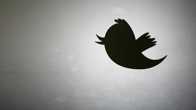 PHOTO: Twitter logo is displayed at the entrance of Twitter headquarters in San Francisco, March 11, 2011.