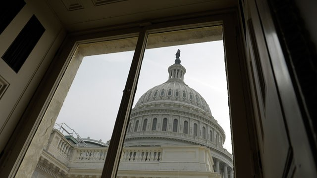 PHOTO: A view of the Capitol dome on Capitol Hill in Washington, Dec. 28, 2012, as Congress still works on the upcoming fiscal cliff.
