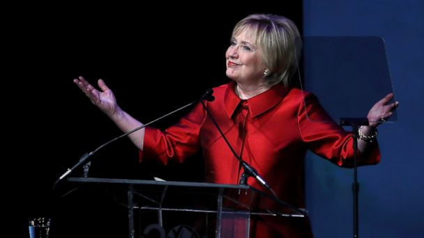 PHOTO: Former U.S. Secretary of State Hillary Clinton speaks during the Vital Voices Global Leadership Awards at the The John F. Kennedy Center for the Performing Arts on March 8, 2017 in Washington, DC.