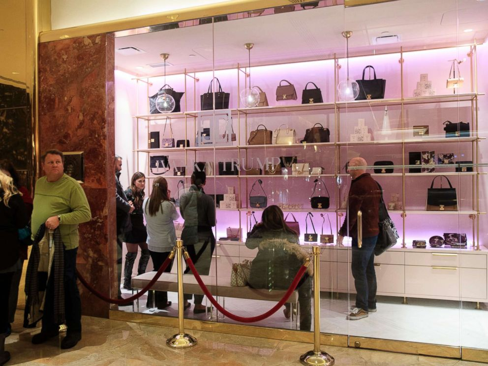 PHOTO: Customers shop at a new Ivanka Trump brand store in the lobby of Trump Tower, December 15, 2017 in New York City.