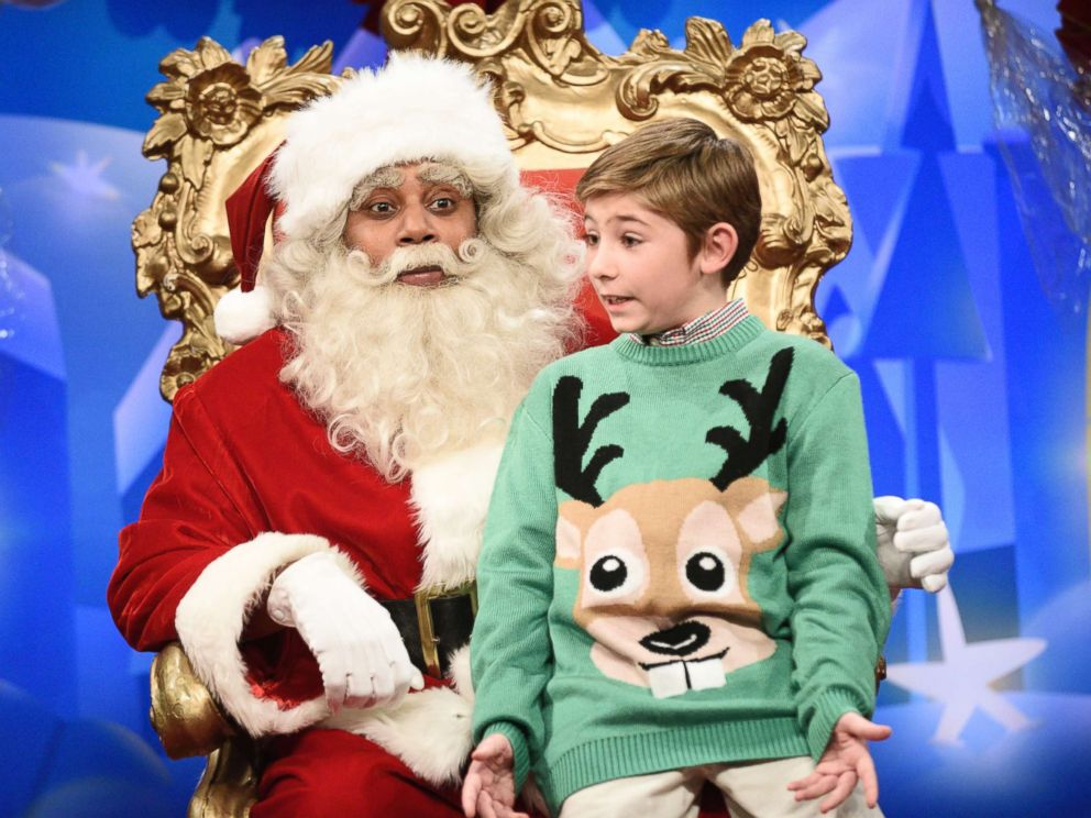 Children bombard mall Santa with controversial political questions in SNL cold open
