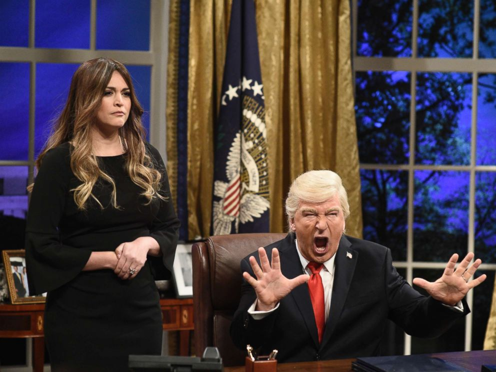 First Lady Melania Trump Alec Baldwin as President Donald J. Trump during White House Cold Open in Studio 8H on Saturday