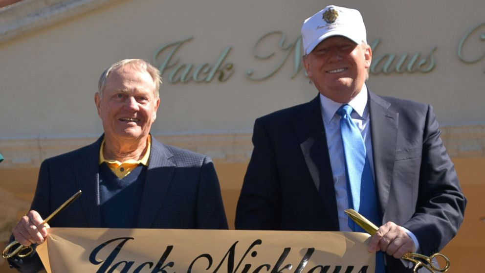 trump goes golfing with jack nicklaus  1 day after hitting