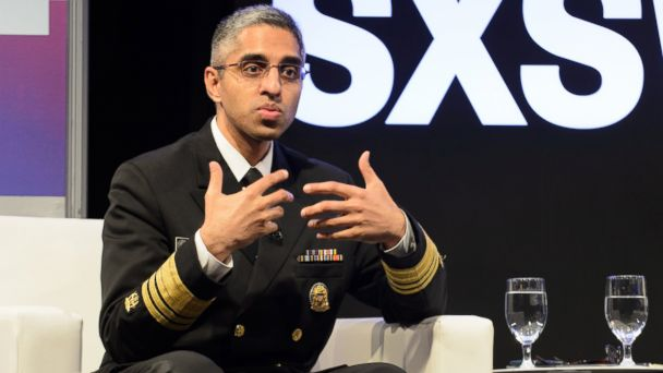 PHOTO: U.S. Surgeon General Vivek Murthy is interviewed during the SxSW Conference at the Austin Convention Center on March 10, 2017 in Austin, Texas.