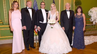 Trumps attend Mnuchin's wedding, officiated by Pence