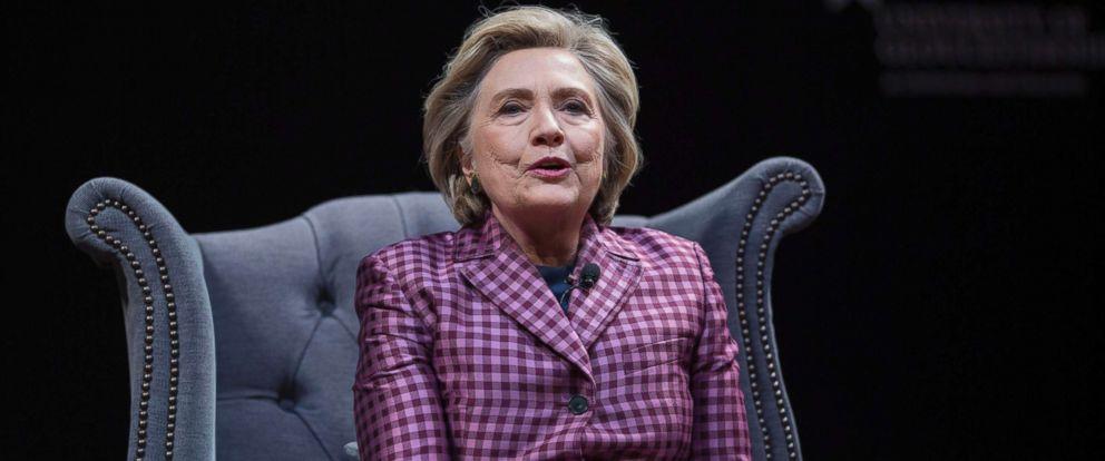 PHOTO: Hillary Clinton at The 2017 Cheltenham Literature Festival in Cheltenham, Gloucestershire, in United Kingdom, Oct. 16, 2017.