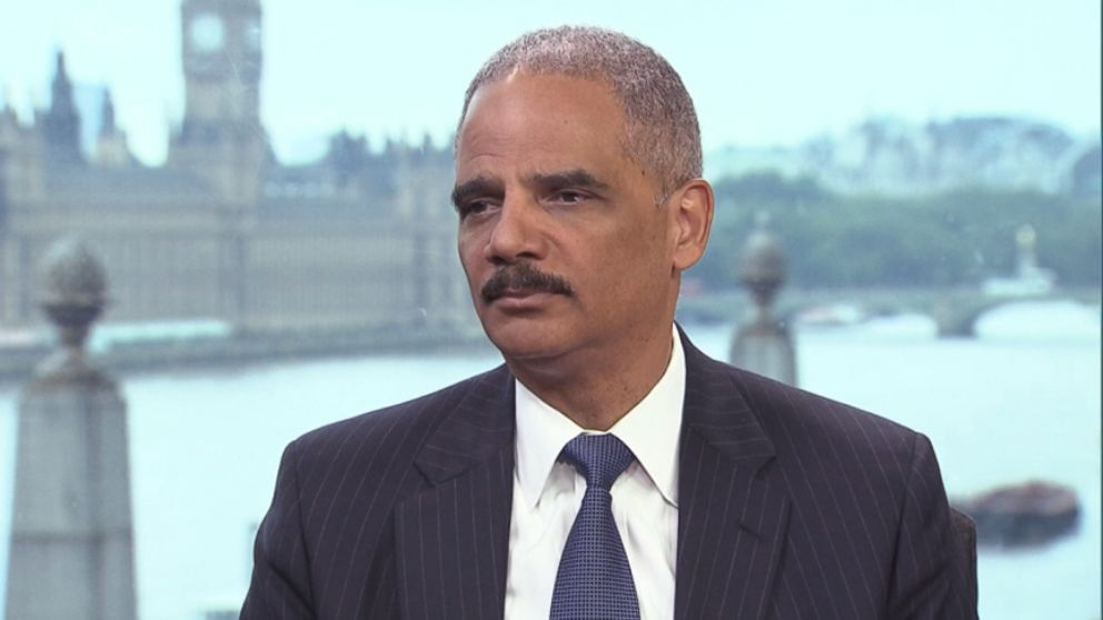 What eric holder says about the pressure of being attorney general