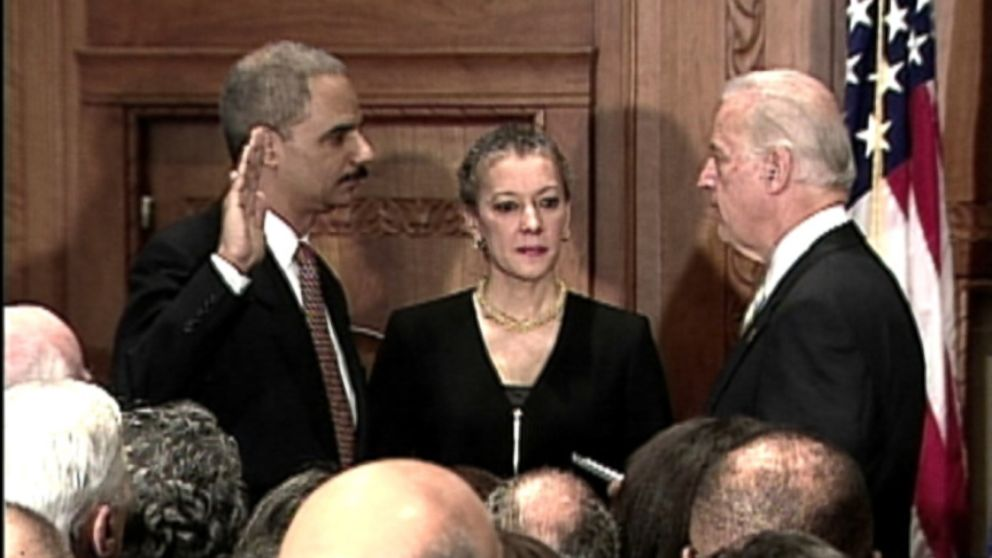 eric holder sworn in as us attorney general video abc news