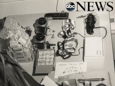 PHOTO: The police uncovered numerous items from the Watergate burglars that night.