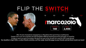 Republican Marco Rubio?s campaign is running web ads which attempt to raise money off of Gov. Charlie Crist?s (R) possible independent Senate run.
