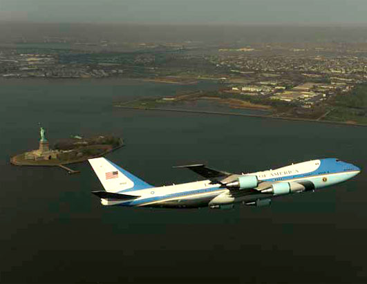 Air Force One NYC flyover