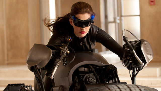 "PHOTO: Anne Hathaway portrays Catwoman in a scene from ""The Dark Knight Rises,"" July 20, 2012."