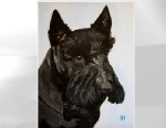 PHOTO: Former President George. W. Bush released this image of a painting he had created of his dog, Barney, upon the dogs death.