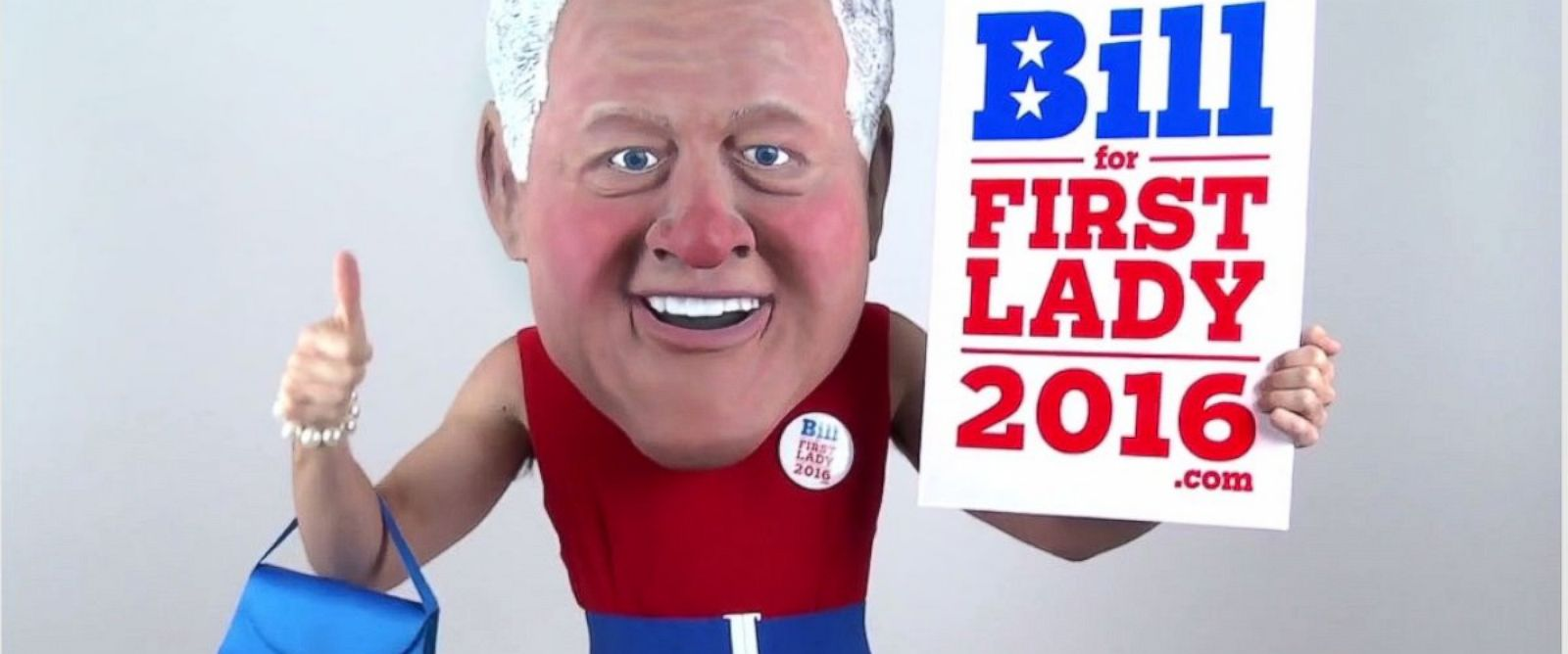 PHOTO: An actor dressed as BIll Clinton appears in a video posted online as a part of a grassroots campaign.