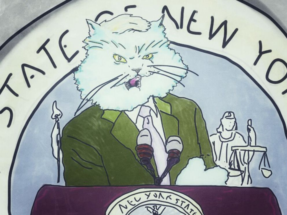 PHOTO: New York Gov. Andrew Cuomo is imagined as a cat.