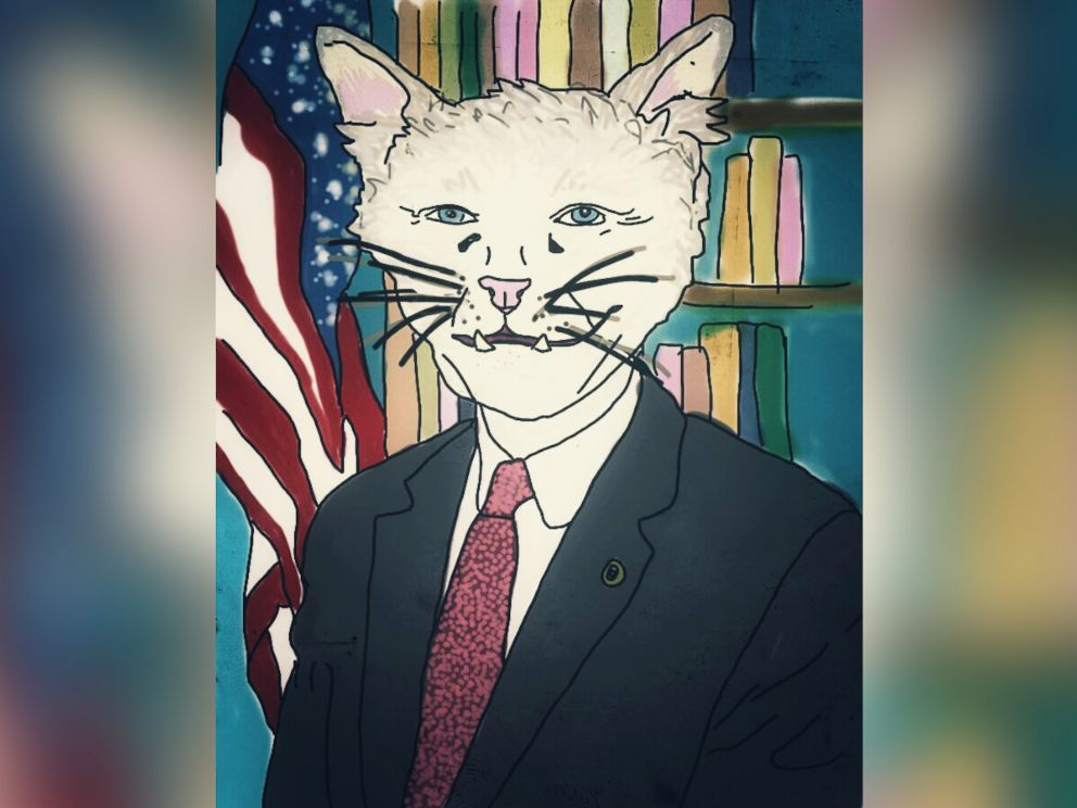 PHOTO: Oklahomas senior Sen. Jim Inhofe is imagined as a cat.