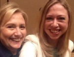 "PHOTO: Chelsea Clinton posted this selfie with her mom Hillary Clinton on Twitter, June 14, 2013, with the caption, ""My first #selfie w my mom @HillaryClinton back stage at #CGIAmerica. #ProudDaughter."""