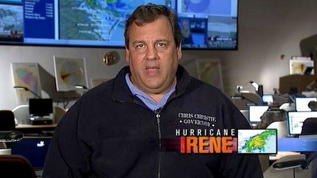 PHOTO:&nbsp;As Hurricane Irene hits the Northeast, New Jersey Governor Chris Christie is interviewed on &quot;This Week.&quot;