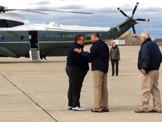 Obama Gets First-Hand Look at Storm Devastation