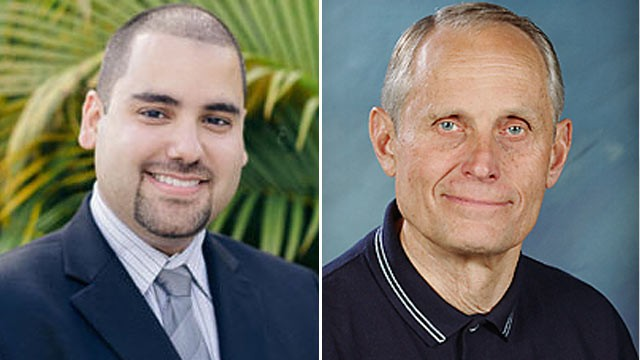 "PHOTO: Left: ""VoteforEddie.com,"" real name Edmund ""Eddie"" Gonzalez. Right: ""ProLife,"" real name Marvin Richardson."