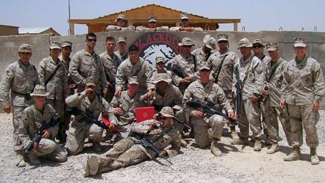 PHOTO: Marine Oyoana Allende, second from the left in the back, with her unit in Iraq, a few weeks before the attack that killed six American troops, including three females in what was the one of the deadliest attacks on female troops in U.S. history.
