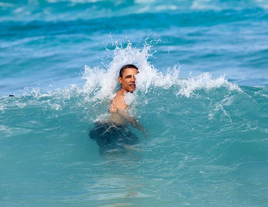 President Barack Obama: Shirtless Politician