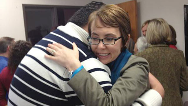PHOTO: Rep. Gabby Giffords posted this picture on twitter of her hugging Daniel Hernandez, the former intern who saved her life.