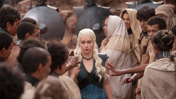 "PHOTO: Emilia Clarke, center, is pictured in the ""Game of Thrones"" season 3 finale, which aired Jun. 9, 2013."