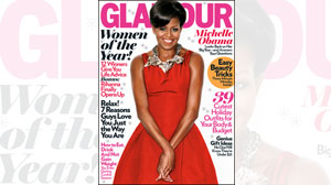 Michelle Obama appears on the cover of Glamour magazine next month