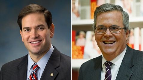 ht gty rubio bush kb 130614 wblog  Coming Up on This Week: Sen. Marco Rubio; Former Florida Gov. Jeb Bush