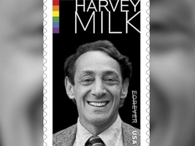Gay Rights Activist Harvey Milk Honored With Postage Stamp