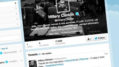 ht hillary clinton twitter nt 130610 wblog Playful Hillary Clinton Joins Twitter