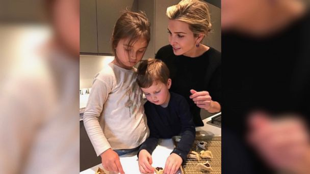 PHOTO: Ivanka Trump posted this photo to Instagram on March 10, 2017, of herself and daughter Arabella, 5, and son Joseph, 3, baking hamantashen, a pastry eaten during the Jewish holiday of Purim.