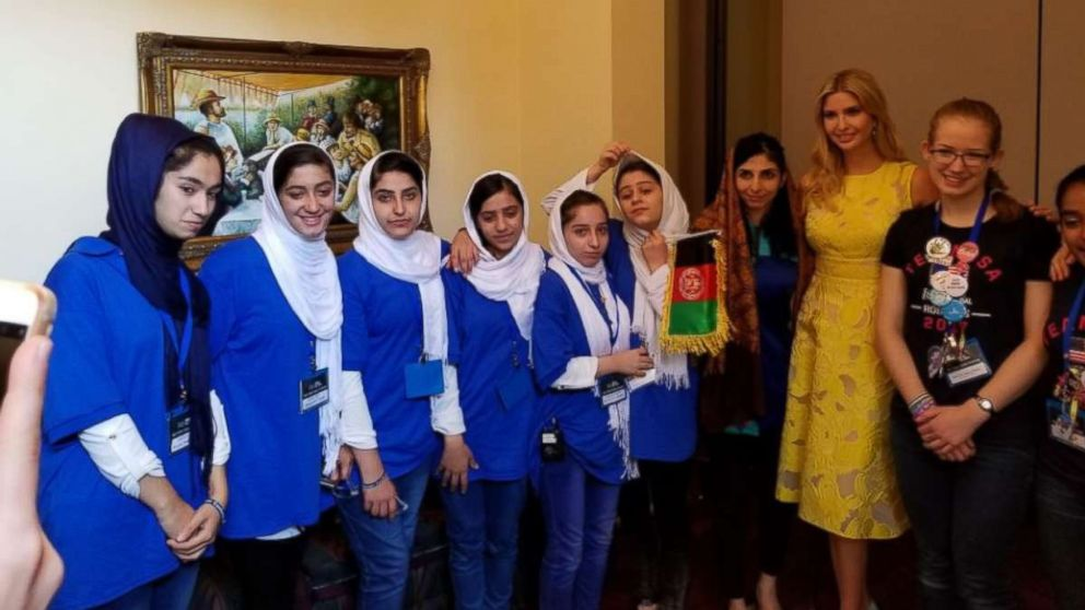 Afghan girls robotics team meets Ivanka Trump, wins a silver medal at competition in DC