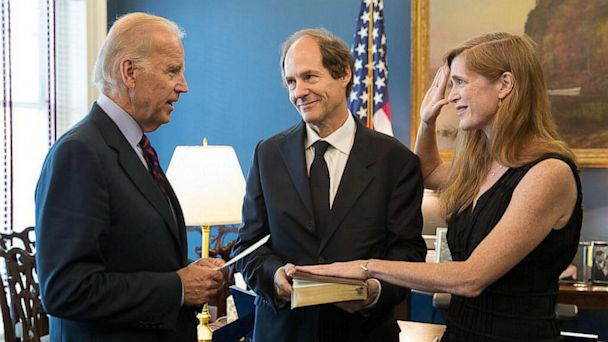 ht joe biden samantha power ll 130802 16x9 608 Power Player Sworn in for UN Post
