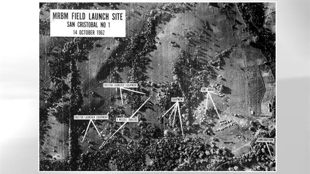 PHOTO: An aerial photograph of the Soviet missile installation in Cuba on Oct. 14, 1962.