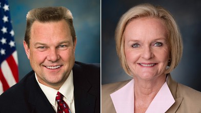 PHOTO: Jon Tester and Claire McCaskill