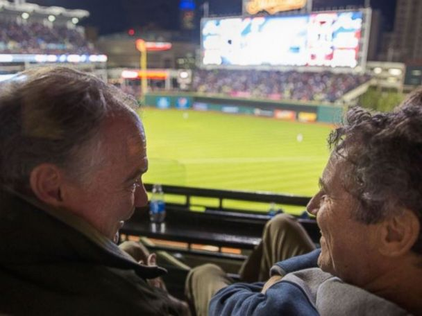 PHOTOS: Kaine, Brown Have a Guys' Night Out at World Series