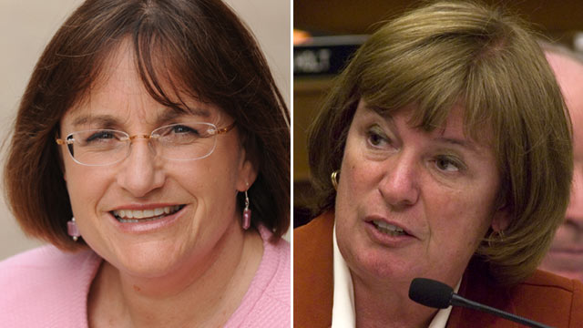 PHOTO: Ann McLane Kuster, left, and Carol Shea-Porter.