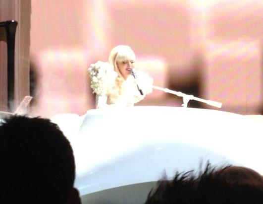 Gaga Performs for Obama Staffers