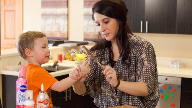 PHOTO: Bristol Palin cooks with her son Tripp in the new Lifetime docu-series, 'Bristol Palin: Life?s a Tripp'.