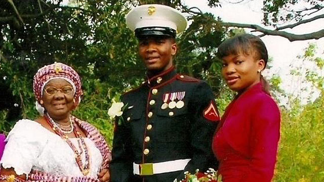 PHOTO: Sgt. John-Mark Gladstone, born in Ghana, served two tours in Iraq. He became a U.S. citizen in 2008.