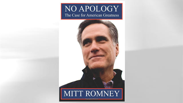 "The cover of the book ""No Apology: Believe in America"" is shown."