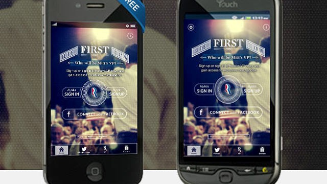 PHOTO: Mitt Romney's campaign announced a new app called