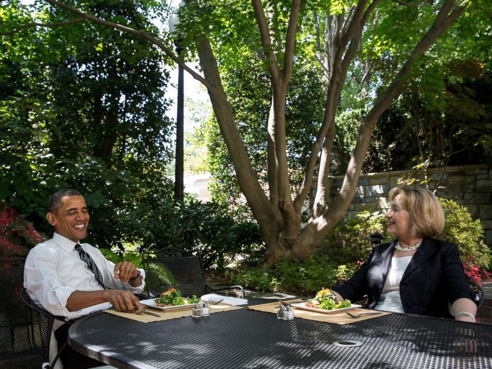 PHOTO: Barack Obama, left, and Hillary Rodham Clinton, right, are pictured at the White House on July 29, 2013 in Washington, D.C.