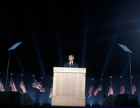 Behind the Scenes with Obama on Election Night