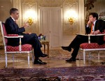 Photo: George Stephanopoulos interviews President Obama